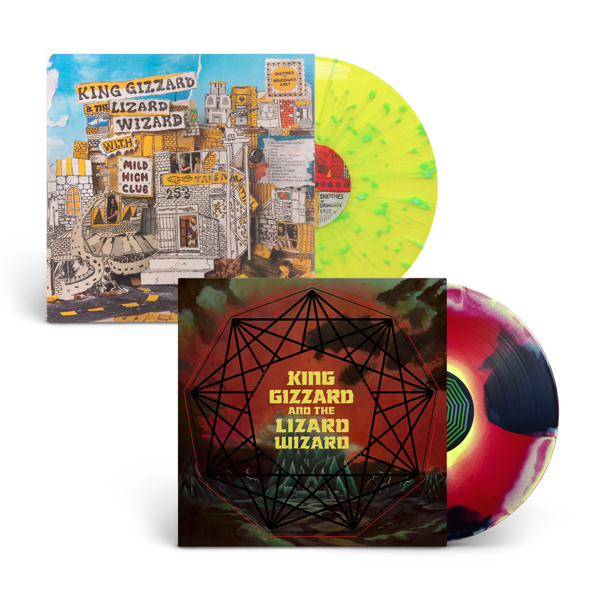 King Gizzard & The Lizard Wizard - Nonagon Infinity + Sketches of Brunswick East LP Bundle