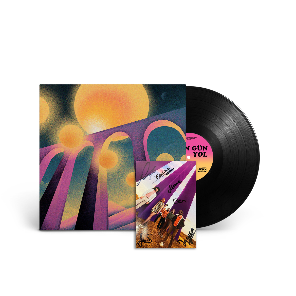 'Yol' Vinyl + Signed Postcard Bundle
