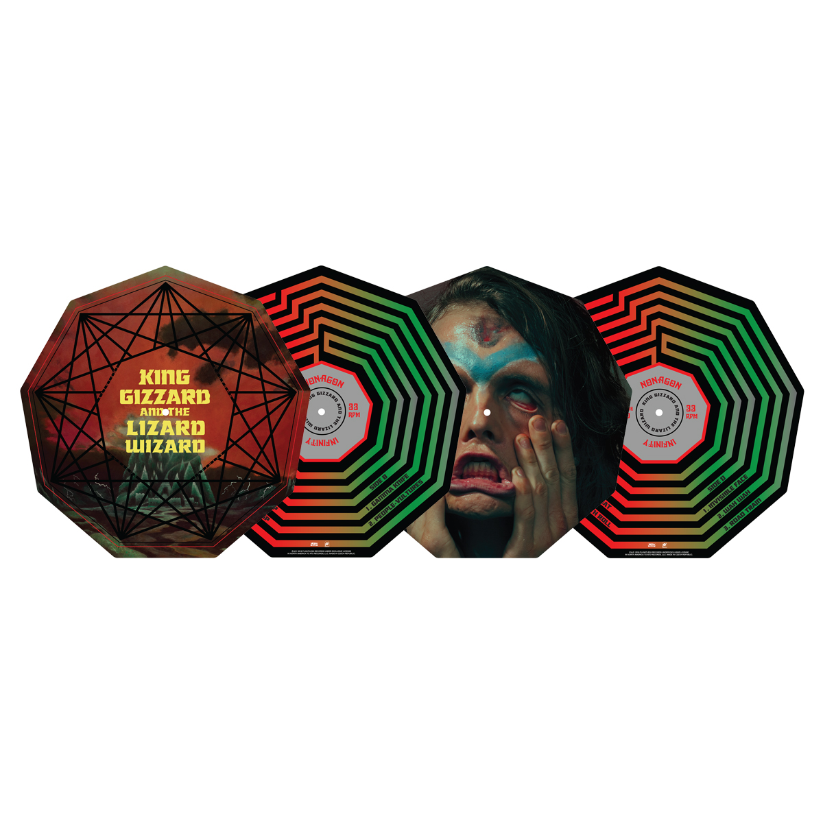 King Gizzard & The Lizard Wizard - Nonagon Infinity Die-Cut Picture Disc Vinyl LP