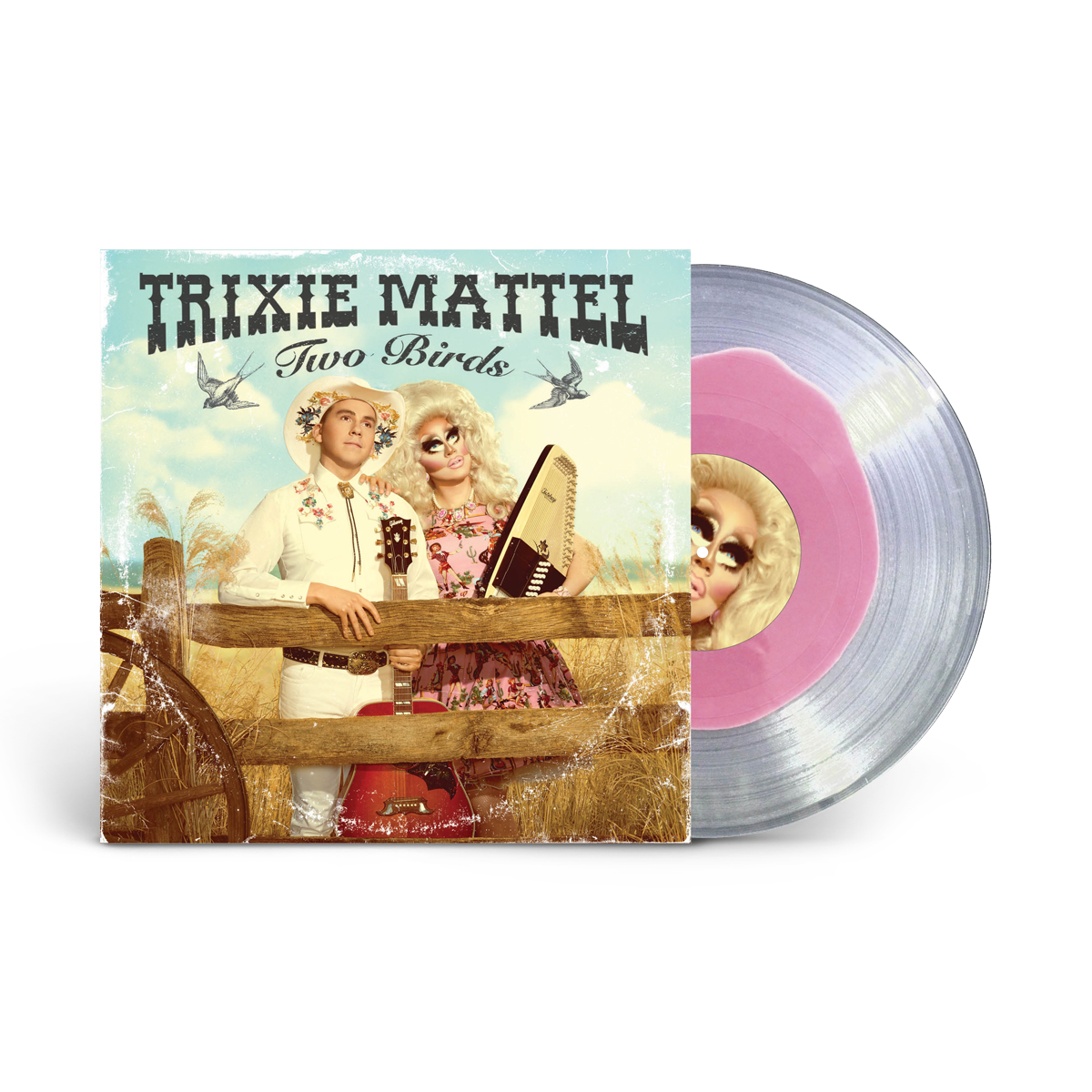 "Trixie Mattel - ""Two Birds, One Stone"" Deluxe Edition LP (Pink blob/clear vinyl)"