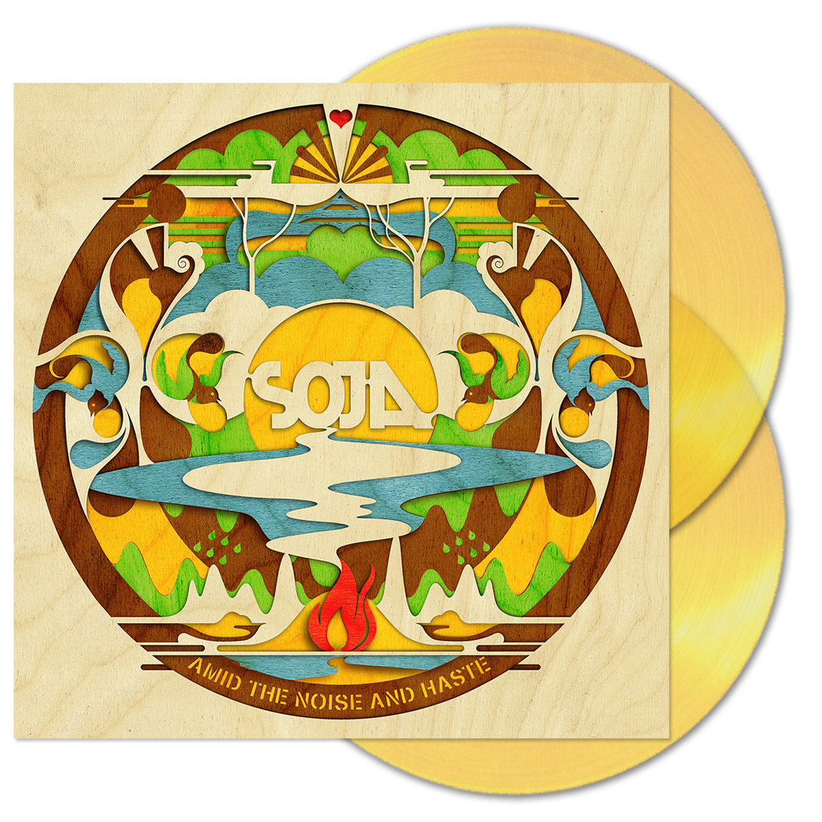 SOJA Amid the Noise and Haste 2-LP Gold Vinyl + Download