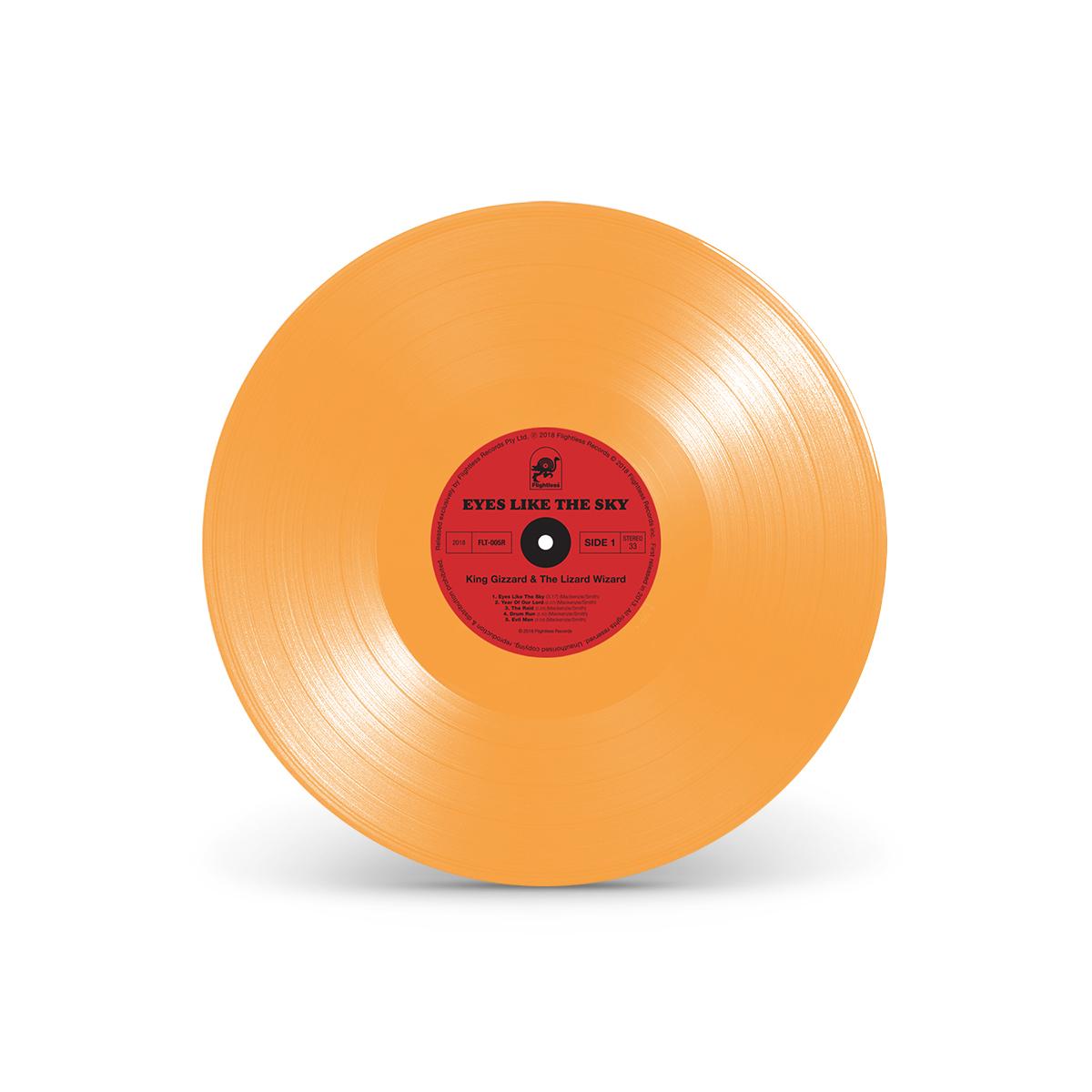 "King Gizzard & The Lizard Wizard - ""Eyes Like The Sky"" Halloween Orange Colored Vinyl"