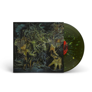 King Gizzard and the Lizard Wizard – Murder of the Universe – Vomit Splatter Colored Vinyl (Swamp Green with Heavy Olive and Mustard Splatter)