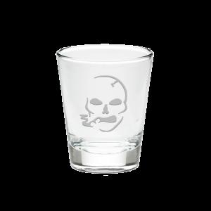 Smoking Skull Shot Glass