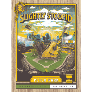 San Diego 2021 Outfield Guitar Poster