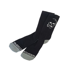 Smoking Skull Socks - Grey/Black