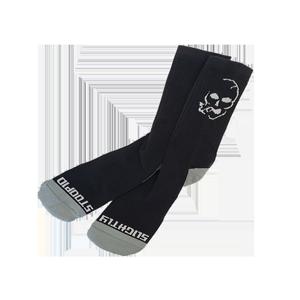 Smoking Skull Socks - Grey/Black