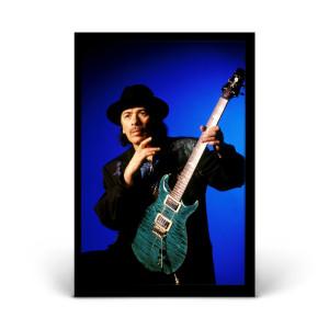 Carlos Santana with Green Guitar #2