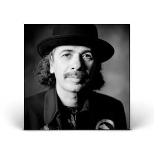 Carlos Santana Portrait - Black and White