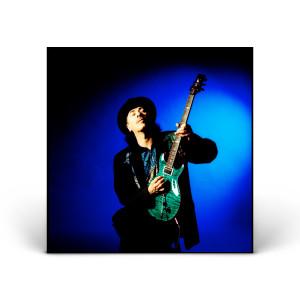 Carlos Santana with Green Guitar
