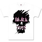 Black Tide White Bastard Skull T-Shirt