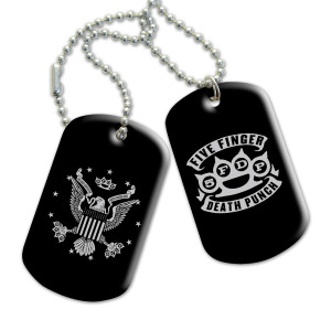 Five Finger Death Punch Eagle Knuckles Dog Tag