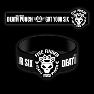 Five Finger Death Punch Crown Rubber Bracelet