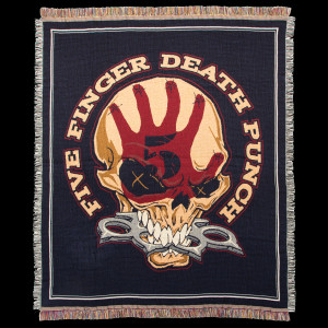 Five Finger Death Punch Knucklehead Woven Blanket