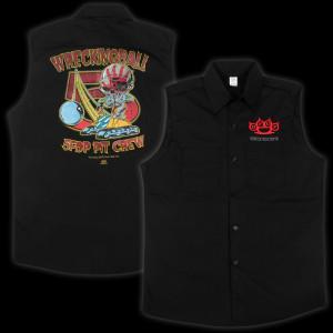 Five Finger Death Punch Wrecking Crew Sleeveless Mens Work Shirt