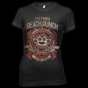 5 Finger Death Punch Badge of Honor T-Shirt