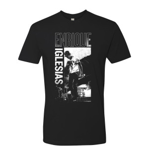 Enrique Iglesias Heart Photo Tee - Black