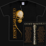 Disturbed Spine Skull 2009 Tour T-Shirt