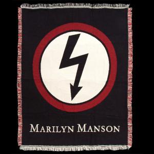 Marilyn Manson Bolt Logo Woven Blanket