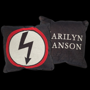 Marilyn Manson Shock Woven Pillow