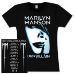 Marilyn Manson Born Villain Girlie Black T-Shirt