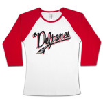 Deftones Throwback Girls 3/4 Sleeve Raglan Shirt