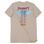 Journey 2014 Tour Rainbow Circle Logo T-Shirt