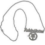 Tokio Hotel Silver Logo Necklace