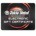 Tokio Hotel Electronic Gift Certificate