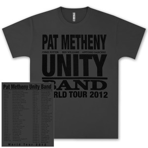 Pat Metheny-Unity Band World Tour 2012  Charcoal T-Shirt