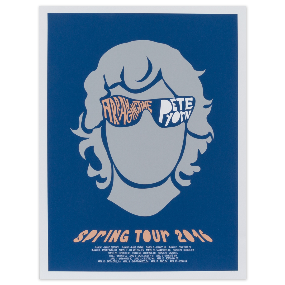 Spring Tour Face Poster Shop The Pete Yorn Official Store