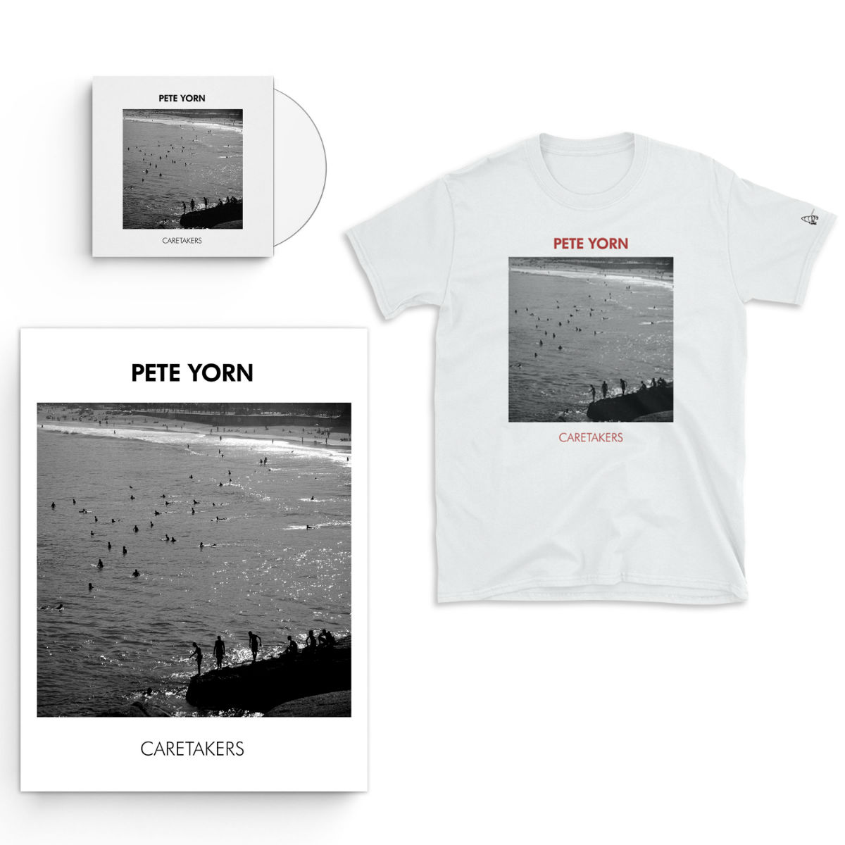 Caretakers CD or Digital Download, Limited Edition Autographed Poster and Exclusive T-shirt Bundle