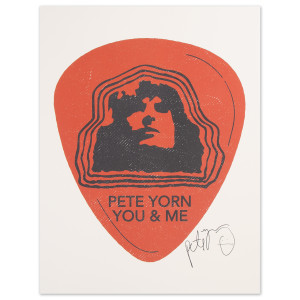 Pete Yorn Guitar Pick Poster - Signed