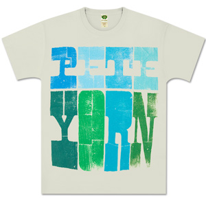 Men's Wood Grain Pete Yorn Logo Tee