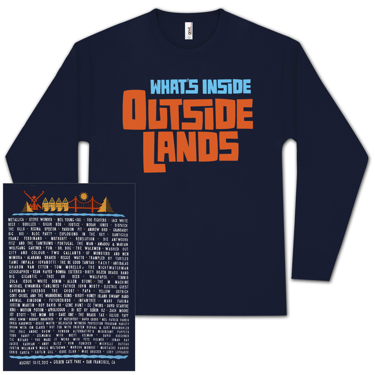 Outside Lands 2012 Long Sleeve Shirt