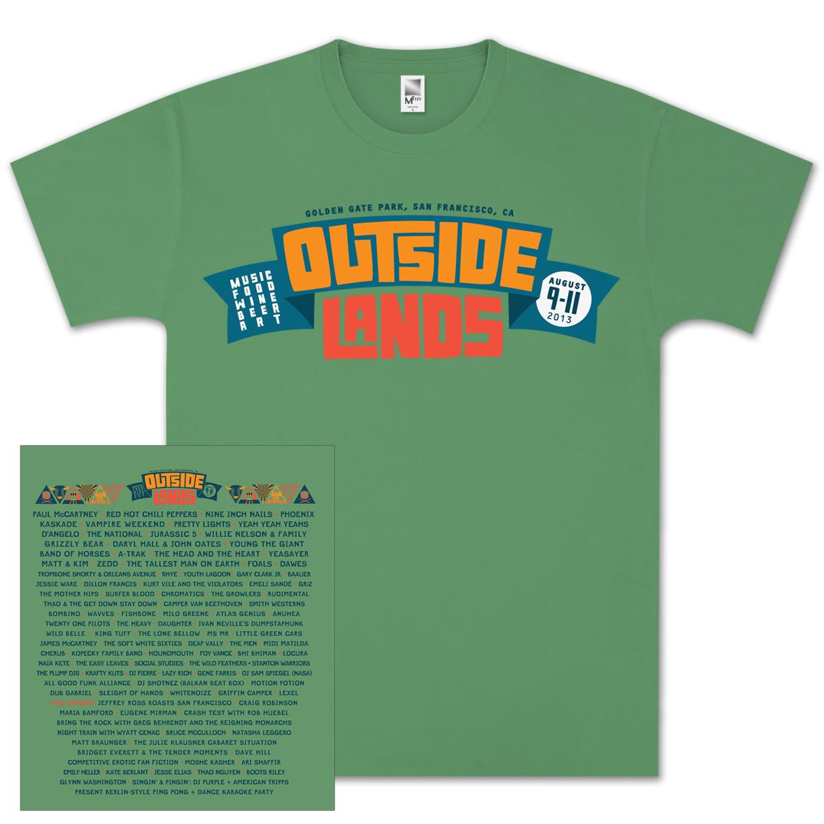 Outside Lands 2013 Main Event Green T-Shirt