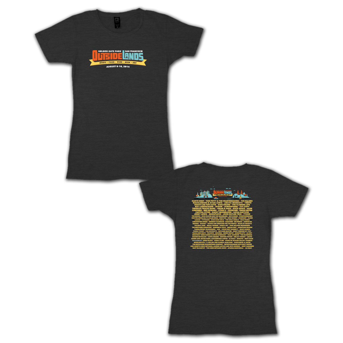 Outside Lands 2014 Ladies Main Event T-shirt