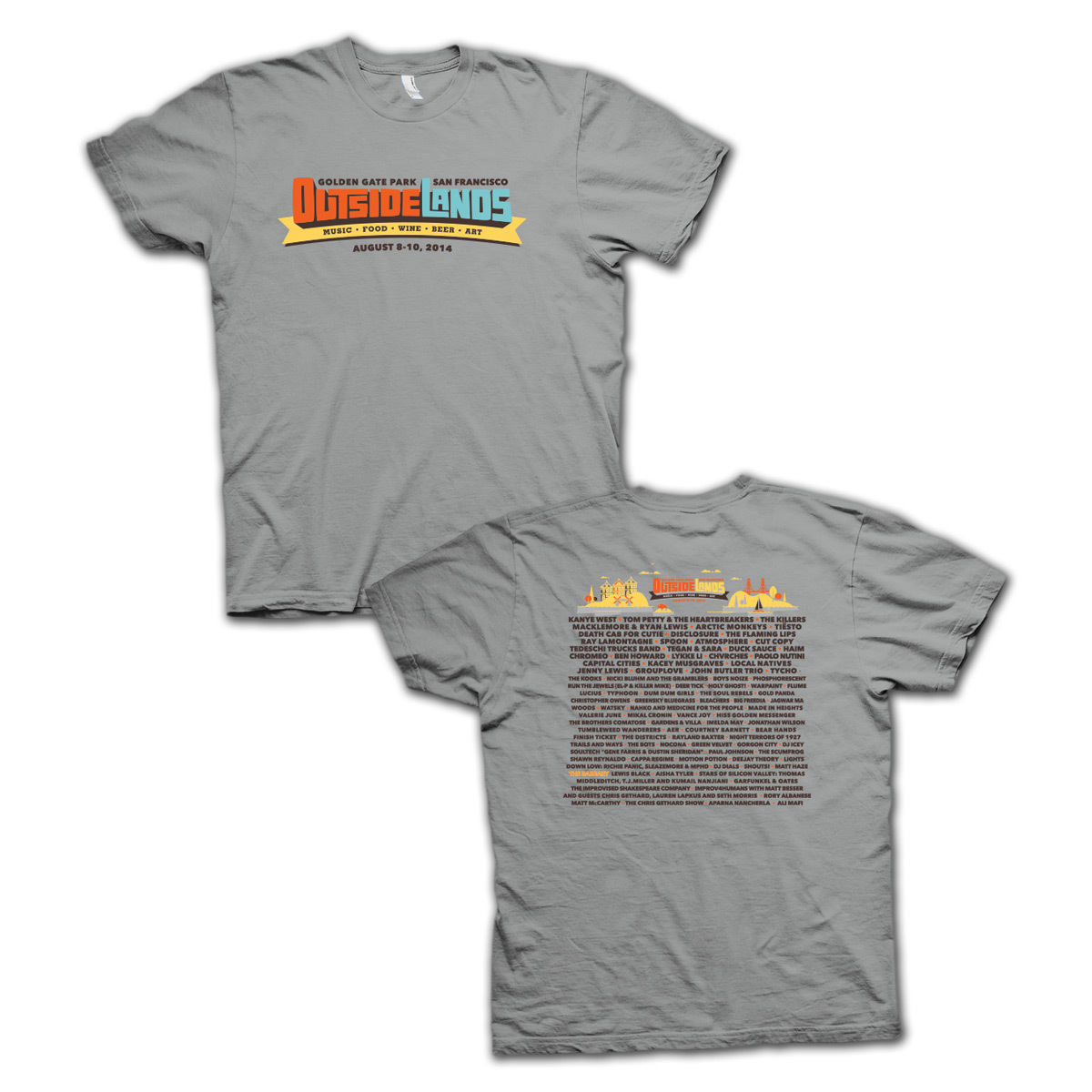 Outside Lands 2014 Main Event Tshirt