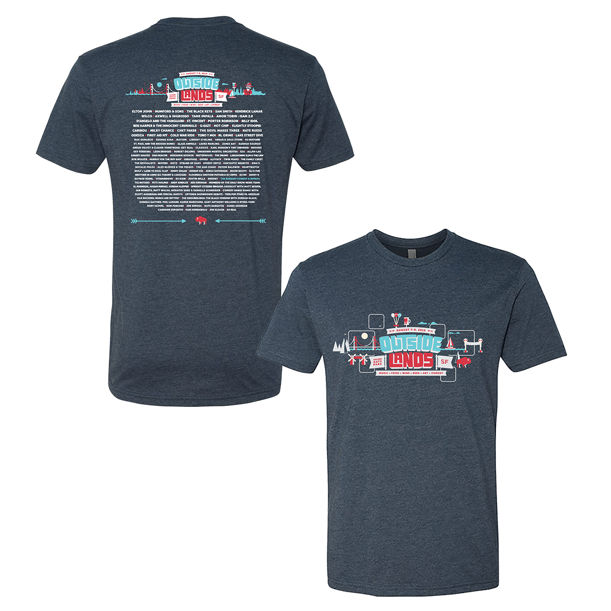 Outside Lands 2015 Main Event Tee