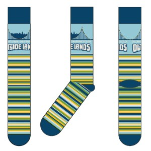 Stripe Bridge Socks