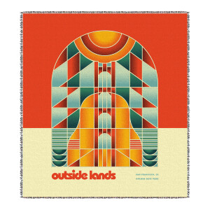 Guitar Bridge Sublimated Tapestry Throw