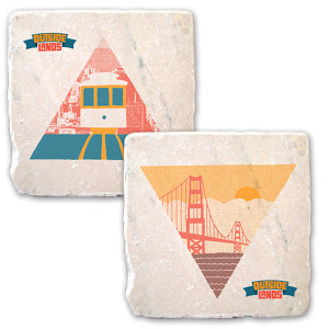 Outside Lands Festival 2013 Bridge & Trolley Coasters (Set of 2)
