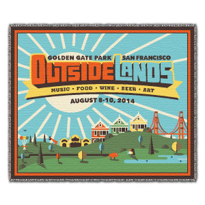 Outside Lands 2014 Woven Throw Blanket