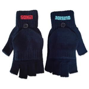 Navy Fingerless Gloves