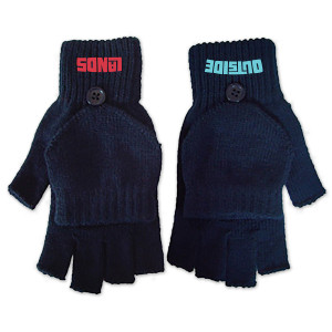 Navy Fingerless Gloves