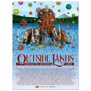 2013 Outside Lands Festival Poster by Ricky Watts