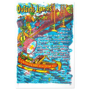 Outside Lands Festival Green Alien Poster - Aug. 12-14, 2011