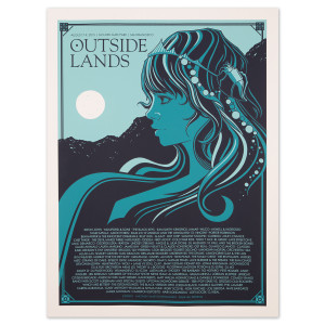 Outside Lands 2015 Hippie Girl Event Poster