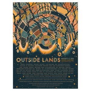 Outside Lands 2016 Event Poster – James Eads