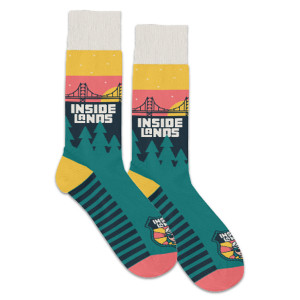 Inside Lands Cozy Crew Socks